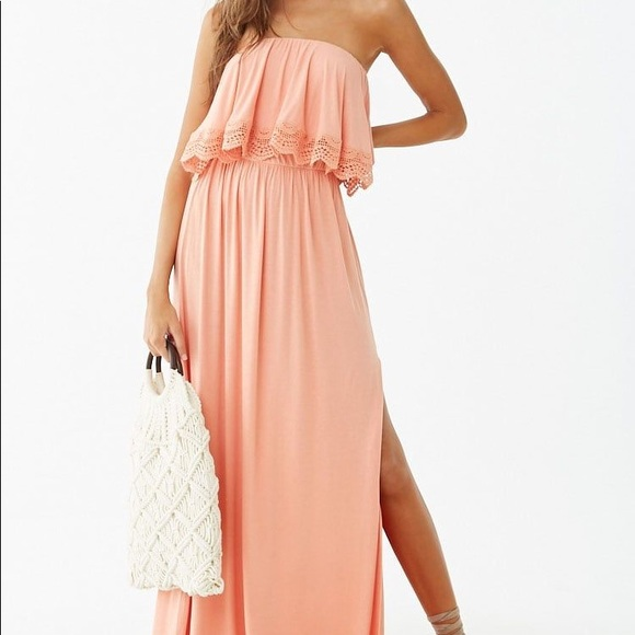 Forever 21 Dresses & Skirts - 🔅Forever 21 Lace Trim Flounce Maxi Dress🔅